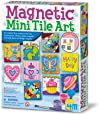 4M 4563 Magnetic Mini Tile Art - DIY Paint Arts & Crafts Magnet Kit For Kids - Fridge, Locker, Party Favors, Craft Project Gifts for Boys & Girls