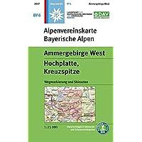 Ammergebirge West, Hochplatte, Kreuzspitze: Wegmarkierung und Skirouten (Alpenvereinskarten, Band 6)