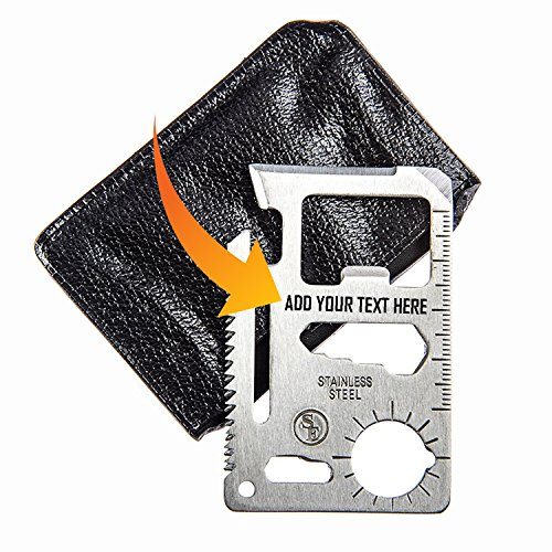 Multi Functional Credit Card Size Personalized Custom Stainless Steel 11 Function Survival Pocket Tool