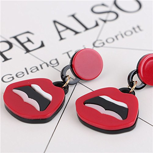 A Product Of Fashion Jewelry Personalized Earrings Red Lips Red Lips Sexy Poster Paragraph Licensing Round Earrings Korea