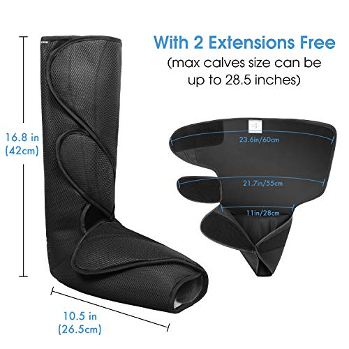 CINCOM Leg Massager for Foot Calf Air Compression Leg Wraps with Portable Handheld Controller – 2 Modes & 3 Intensities…