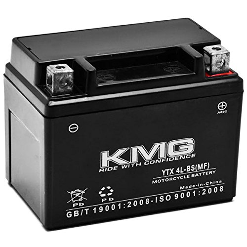 KMG Bombardier Can-Am 90 DS90 DS90F Quest 2002-2012 YTX4L-BS Sealed Maintenace Free Battery High Performance 12V SMF OEM Replacement Maintenance Free Powersport Motorcycle ATV Scooter Snowmobile KMG