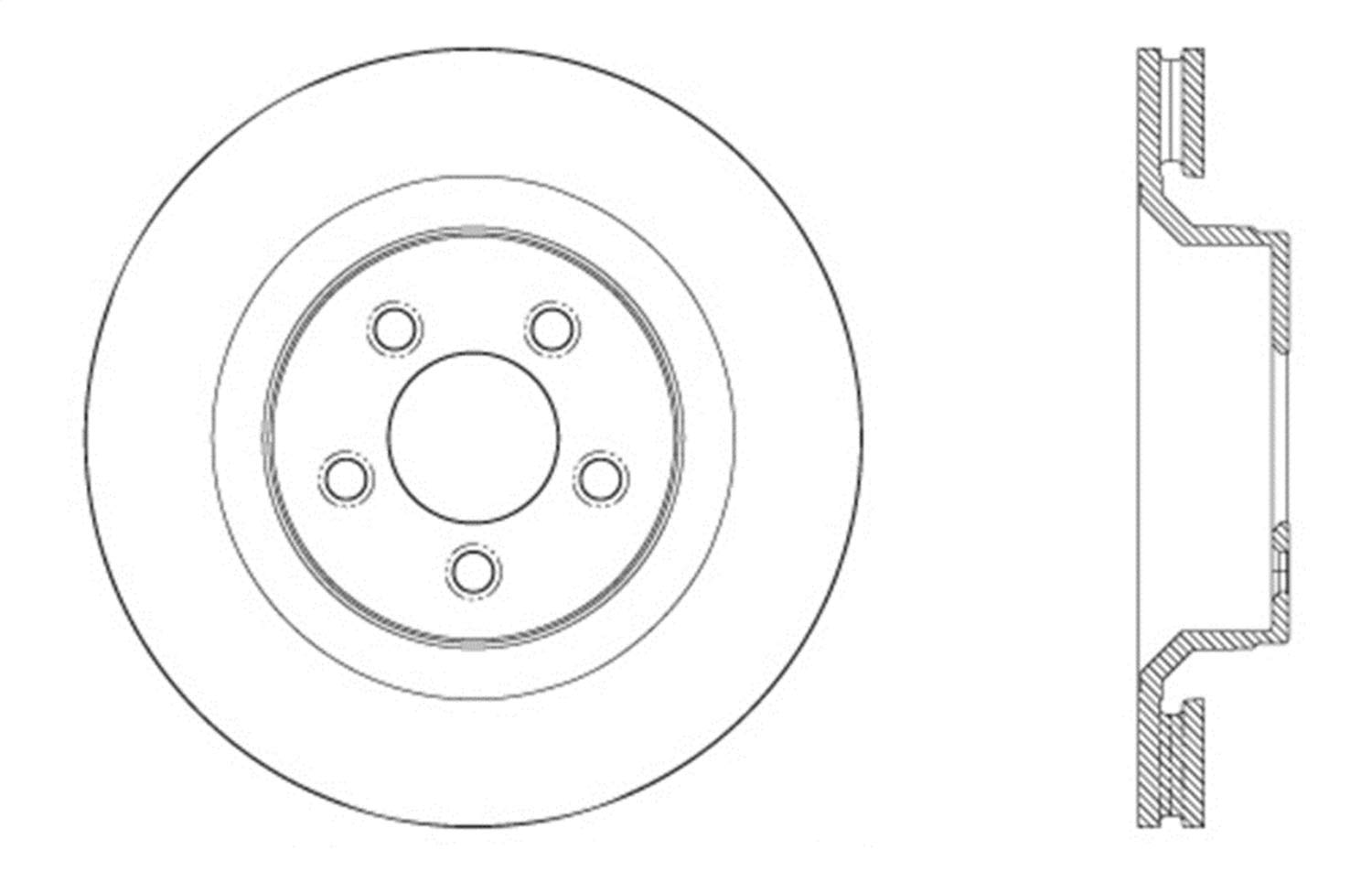 Front Right StopTech 127.63078R Sport Drilled//Slotted Brake Rotor 1 Pack