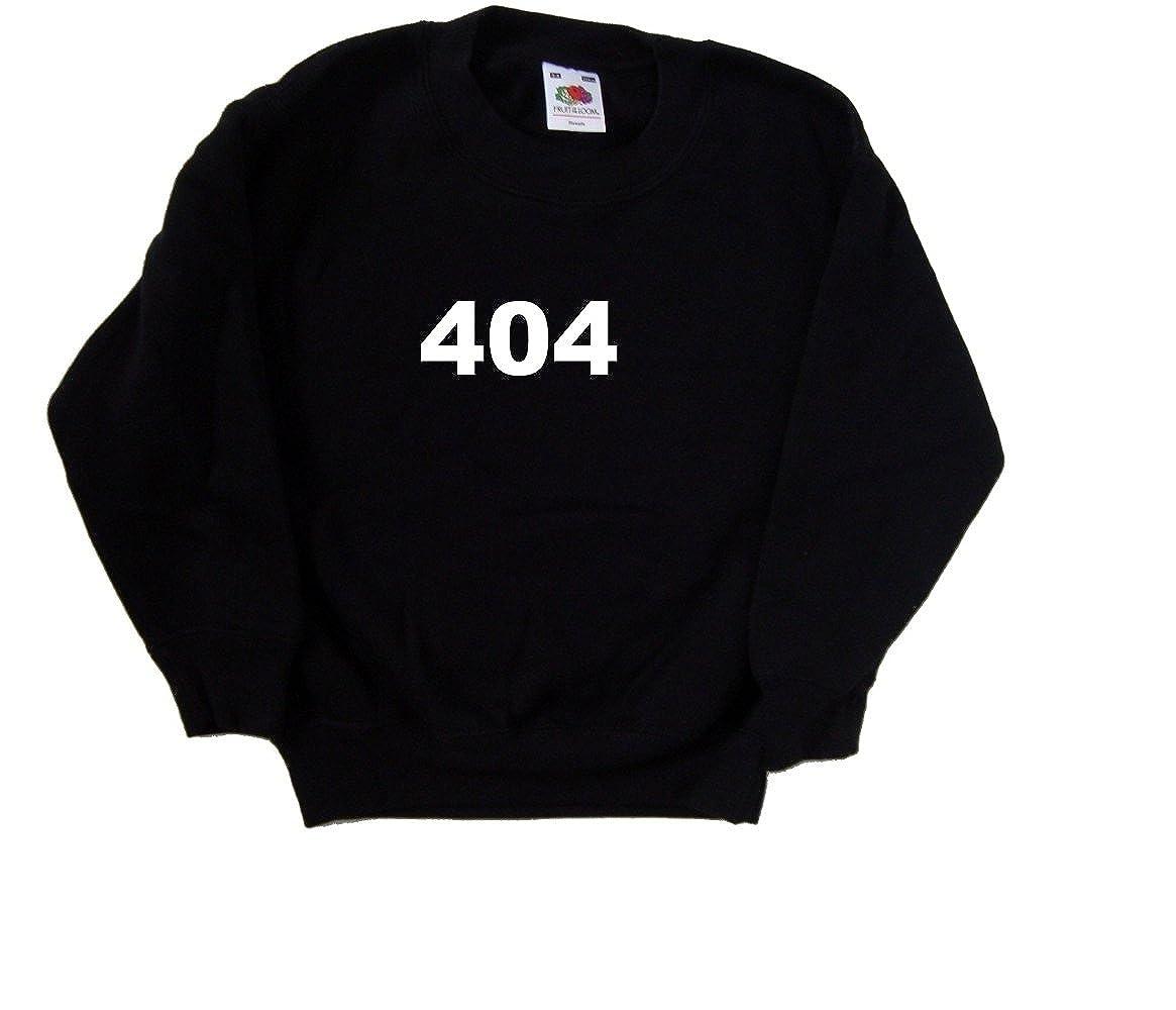 404 Computing Black Kids Sweatshirt