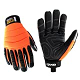 Cestus Pro Series HM Impact Glove, Work, Cut Resistant, Medium, Orange (Pack of 1 Pair)