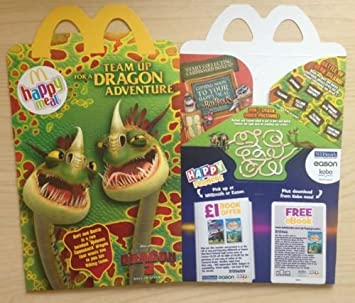 Mcdonalds Happy Meal Toy Train Your Dragon 2 Barf Belch Box Only Empty New Amazon Co Uk Toys Games