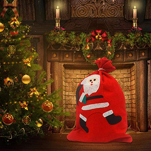 Biback Christmas Gift Bag Santa Claus Snowman Small Bag Christmas Drawstring Bag Christmas Candy Bag Christmas Decorations Candy Bags by Biback (Image #1)