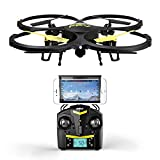 U818A Wifi FPV Drone with Altitude Hold and HD Camera - Black - Bonus VR Headset