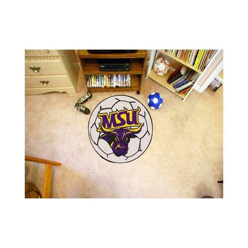 (NCAA Minnesota State University - Mankato Mavericks Soccer Ball Mat Round Area Rug)