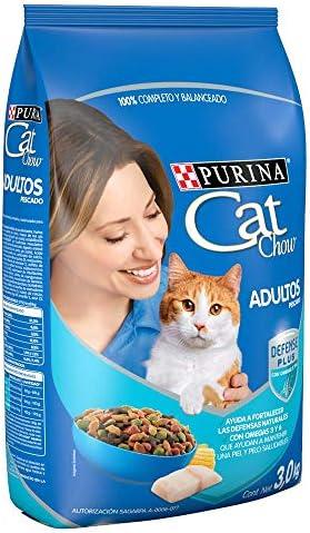 Cat Chow Purina Comida para Gato Adulto Pescado 3Kg 4