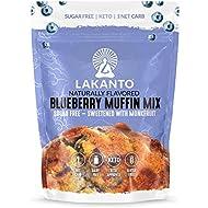 Lakanto Sugar-Free Blueberry Muffin Mix, Low-Carb, Gluten-Free Baking with Monkfruit Sweetener