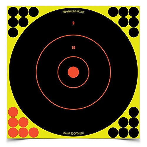 SHOOT-N-C 12 Inch Bullseye Targets - 50 Count Pack with 1,200 Pasters ()