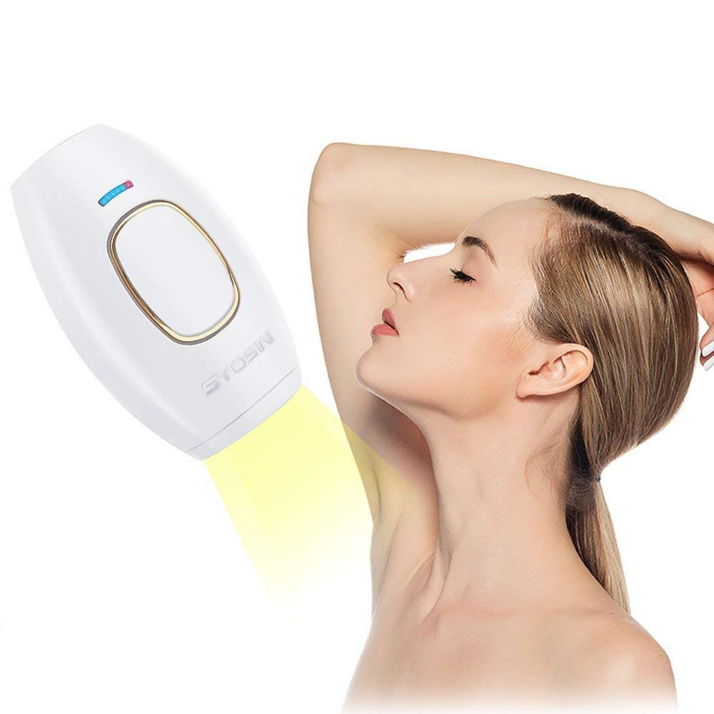SYOSIN IPL Hair removal, Painless Intense Pulsed Light system, Permanent Hair Removal Devices, 400000 Flashes Hair removal equipment for Face Body