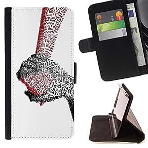 BullDog Case - FOR/Samsung Galaxy S3 Mini I8190Samsung Galaxy S3 Mini I8190 / - / holding hands love true quote letter couple /- Monedero de cuero de la PU Llevar cubierta de la caja con el ID Credit Card Slots Flip funda de cuer