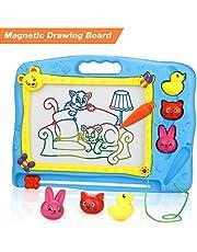 LENBEST Pizarra magnética Colorido, Pizarra para niños, Juguetes niñas y Educativo - Mega Sketcher - Portátil - Tamaño 40 x 31CM - Números,Animales, Alfabeto