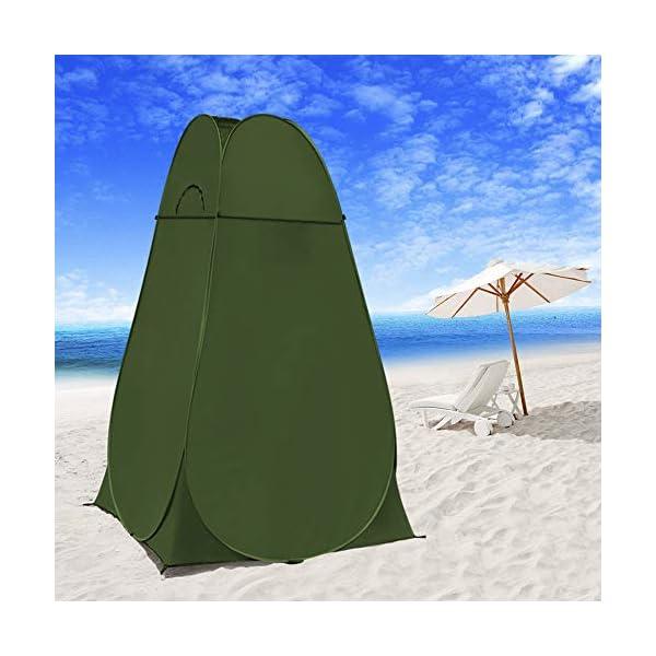 WolfWise Tenda ad Apertura Istantanea Pop-Up Campeggio Spiaggia Bagno Spogliatoio Doccia Riparo Privato all'Aperto 2 spesavip