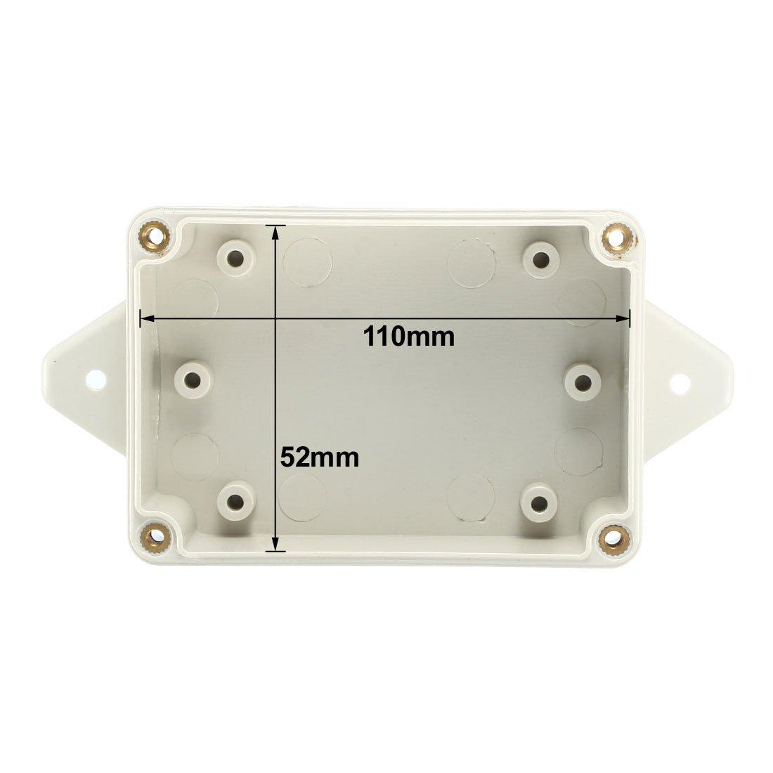 55mm Elektronische ABS Kunststoff DIY Anschlussdose Kasten Grau DE de sourcing map 115 90