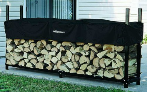 Rack Firewood Designs (The Woodhaven 8 Foot Firewood Log Rack with Cover)