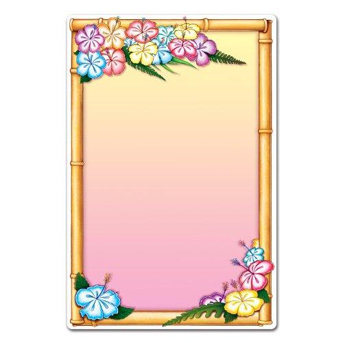Beistle 54154 Luau Menu Board, 21-1/4 by 13-1/2-Inch]()