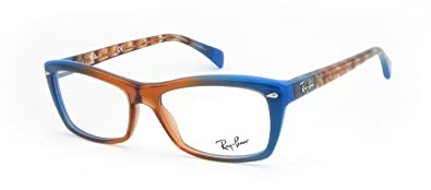 6fbc55d4d6 Image Unavailable. Image not available for. Color  Ray-ban Rx Eyeglasses  Frames Rb 5255 5488 53x16 Gradient Brown on Blue
