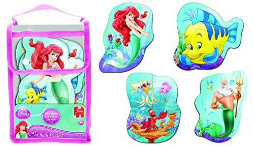 Disney The Little Mermaid 4 Pack Shaped Foam Bath Puzzles Ages 3+