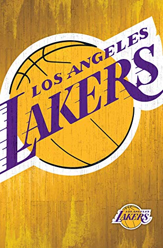 Trends International Los Angeles Lakers-Logo 13 Mount Bundle Wall Poster, 22.375