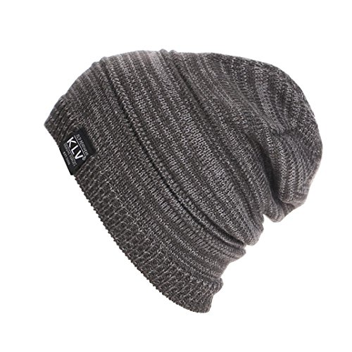 Knit Baggy Hat,ChainSee Woman Man Girls Boys Fashion Unisex Winter Slouchy Beanie Ski Wool Warm Cap (Gray)
