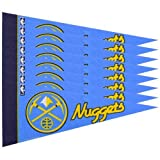 Rico NBA Nuggets 8 Pc Mini Pennant Pack Sports Fan Home Decor, Multicolor, One Size
