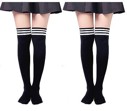 ab491e3430f7d5 UClever Chaussettes et collants Femme haute Mode Coton chaud Cosplay ...