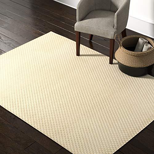 Rivet Textured Zen Hand-Woven Jute Area Rug, 5 x 7 Foot, Natural -  NOUAO, CRSTNCRS01NATURAL060084