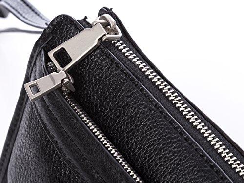Herren Männer Handgelenktasche Harold's Tasche Umhängetasche schwarz neu echtes leder