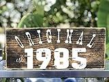 Original Established Year Hanging Wood Art Decor
