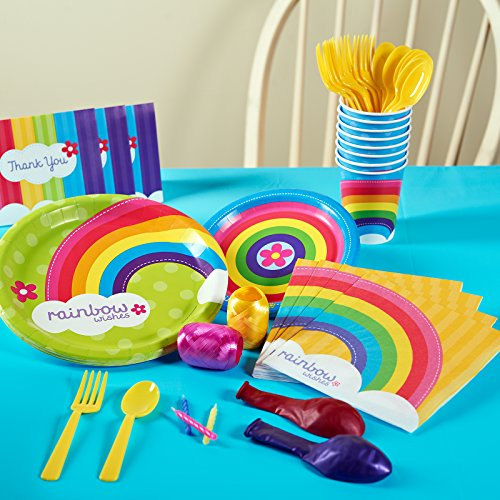 BirthdayExpress Rainbow Wishes Party Supplies - Basic Party Pack for 16