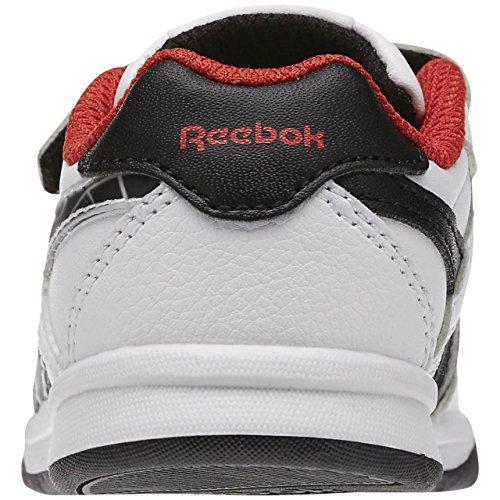 Reebok Unisex Baby Step N Flash II Sneaker Weiß / Rot / Schwarz (Weiß / Motor Rot / Schwarz)