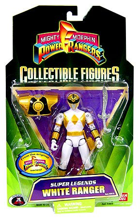Super Legends White Ranger - Power Rangers Jungle Fury Action Figure (Chase)