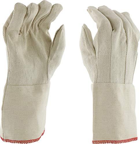 West Chester GS21I Premium 100% Cotton Canvas Gauntlet Cuff Gloves, 12 oz, L, White (Pack of (Westchester Cotton Gloves)