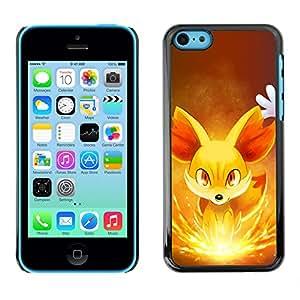 LECELL--Funda protectora / Cubierta / Piel For iPhone 5C -- Resplandeciente Fox --