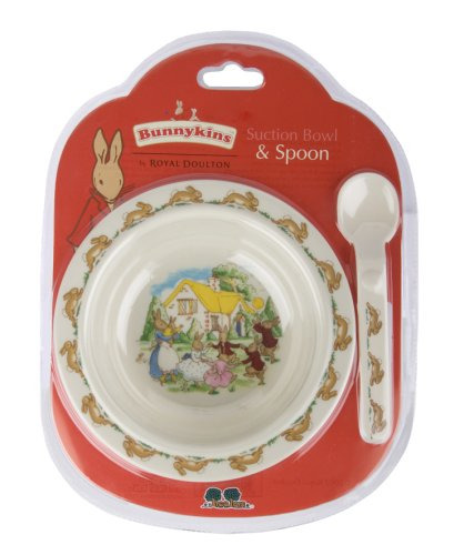 Bunnykins Playing Bunnies Suction Bowl and Spoon Set Great Gizmos A19928
