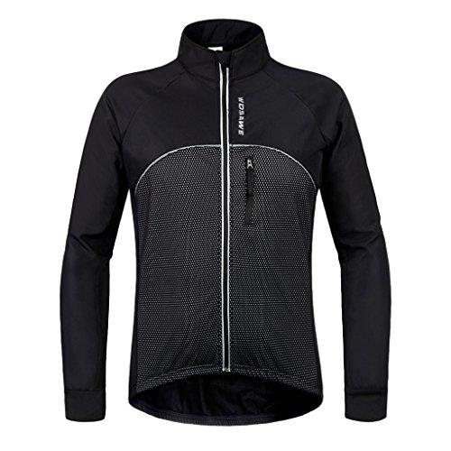 ワーム壮大な幻滅するLovoski 自転車 ソフト サーマル サイクリングジャケット 防風 ロングスリーブ スポーツウェア  通気性  全5サイズ
