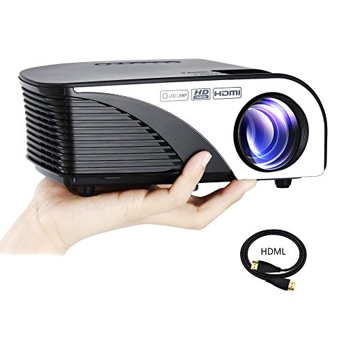 Varmax portable led mini projector with hdmi cable home for Mini outdoor projector