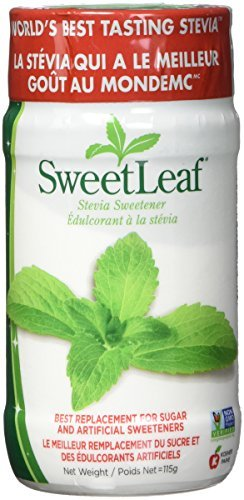 SweetLeaf Stevia Powder, 4-Ounce Shaker Jars (Pack of 2)