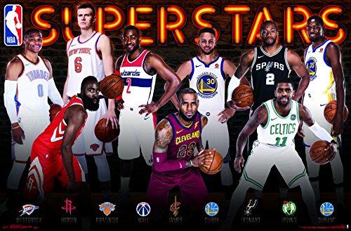 "Trends International""NBA Superstars Wall Poster 22.375"" x 34"" Multicolor"