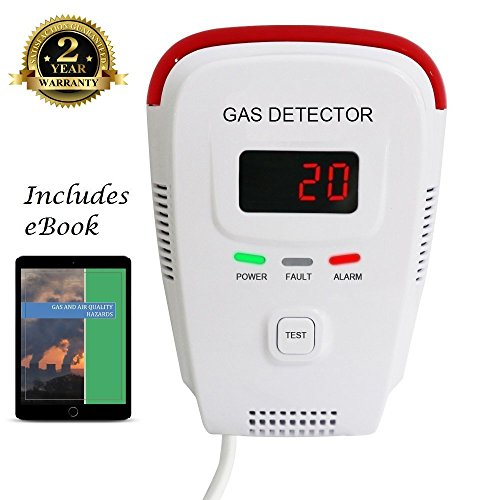 s Detector, Home Gas Alarm; Leak Tester, Sensor; Monitor Combustible Gas Level: Methane, Butane, LPG, LNG; Voice / Light Warning & LED Display, Prevent Fire Explosions; eBook (Fire Monitor)