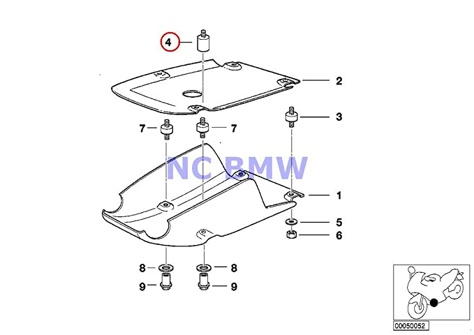 Amazon.com: BMW Genuine Motorcycle Front Aggregate ... on