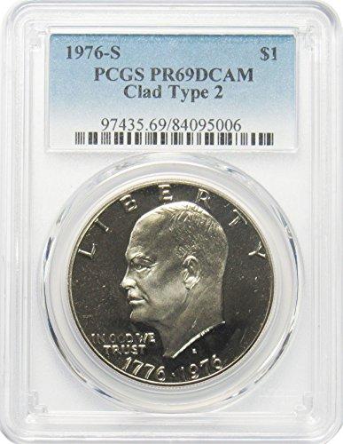 1976 S Eisenhower Ike Dollar $1 PR69DCAM PCGS Clad Type 2