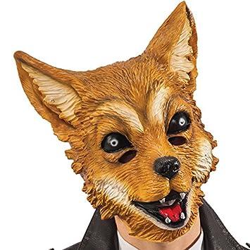 Carnival Toys - Máscara de látex zorro con encabezado, color marrón (662)