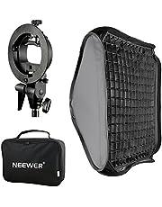 Neewer 40x40cm Difusor Softbox de Rejilla de Nido de Abeja para Flash con Soporte Tipo S y Bolsa para Nikon y Canon Speedlite Neewer TT560