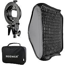 "Neewer 16""x16""/40x40cm Bowens Mount Softbox with Grid and S-type Flash Bracket for Nikon SB-600,SB-800,SB-900,SB-910,Canon 380EX,430EX II,550EX,580EX II,600EX-RT,Neewer TT560 Flash Speedlite"