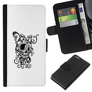 All Phone Most Case / Oferta Especial Cáscara Funda de cuero Monedero Cubierta de proteccion Caso / Wallet Case for Apple Iphone 5C // Octopus Squid Skull