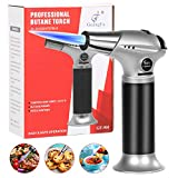 SilkRd Blow Torch, Professional Kitchen Culinary Butane Torch with...